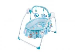 China W / Music 3 Speed Swing Children's Play Toys / Remote Control Baby Cradle Bed on sale