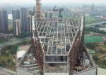 High Rise Building Structure Steel Frame Sky Restaurant Customized Design