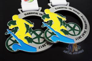 Quality Customized Metal Award Medals Cut Out Design And Glitter Color for sale