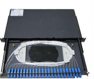 Quality 24 Fibers ODF Rack Mount Optical Fiber Distribution Frame With Pigtail for sale