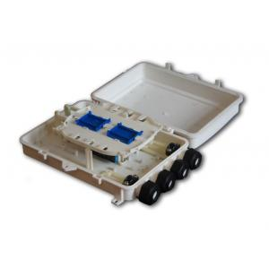 China 24 cores Fiber Optic Splitter Terminal box for indoor ABS PP on sale