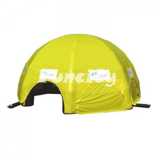 China Fluorescent Yellow Dome Inflatable Air Tent Camping In Hot - welding Workmanship on sale