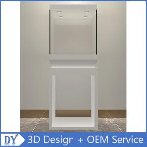 China Manufacturer wholesale custom made white color glass display cases for museums on sale