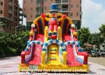 Commercial Large Inflatable Clown Slide/ Dry slide Combo Bouncy House