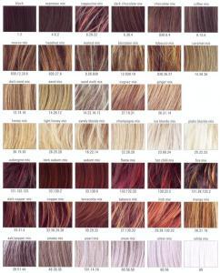 China European People Auburn Hair Color Chart 10 Cm SGS Certification on sale