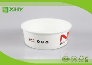 China 500ml 20oz PE Coated Food Grade Paper Salad Bowls With Plastic Cover / Single Wall on sale