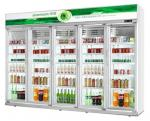 Green&health commercial Glass Door Upright Pepsi cola display Refrigerator cooler showcase
