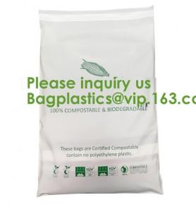 China EN13432 100% Bio Degradable Mailing Bags Custom PLA PBAT Compostable Courier Bags,Eco Reusable Recycle Compostable Mail on sale