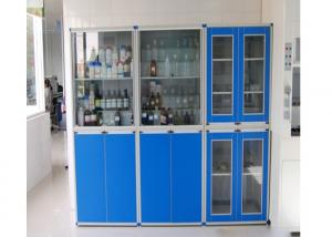 China Beautiful Durable Reagent Cabinet , Stainless Steel Grey Cupboard on sale