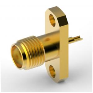 SMA Straight Jack(Female) Connector, 2-Hole Flange, 50 Ohm,DC~6GHz