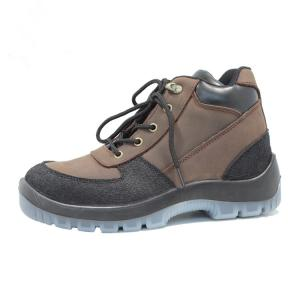 China Injection pu/pu  with steel toe cap genuine leather safety shoes on sale