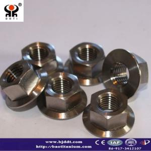 Titanium and titanium alloy gr2 or gr5 Flange Nuts DIN934