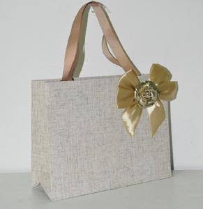 China Lightweight Paper Fabric Bags UV Coating Ramie Cotton OEM / ODM Available on sale