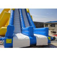Big Inflatable Commercial Water Slides , Children Amusement Park Water Slides For Holiday Resort