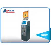 Cash acceptor touch screen information kiosk for bus airport metro station
