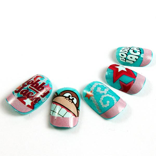 Magical Bobby Jack Cartoon Fake Nails Kids Finger 3D Lovely ...