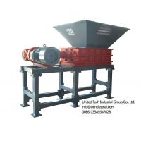 China waste tire shredder, waste tyre crusher, rubber crush and recycling machine, solid waste crusher, double shaft shredder on sale