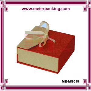 China Ribbon gift box, magnetic paper jewelry box, luxury ring box ME-MG019 on sale