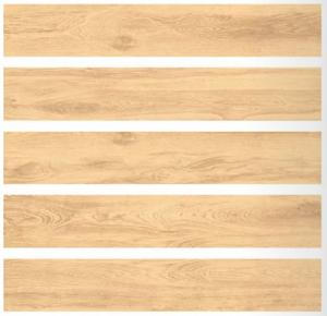 China Yellow Color Porcelain Wood Look Tile Flooring Rectified Edge 200x1200MM Size on sale