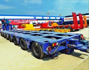 China 100-300 tons Bridge Beam Transporting modular multi axle trailer, Multi Axle Low Bed Heavy Duty Semi Trailer on sale