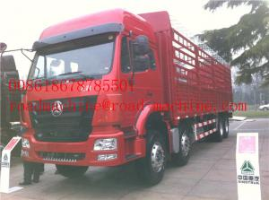 China SINOTRUK HOWO 8x4 Heavy Cargo Trucks / Diesel Box Stake Truck , STRONGEST TRACTOR on sale