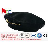 FUN Black Mercerized Female Green Beret Hat Embroidered Velvet Beret Hat Breathable