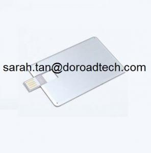 China 100% Real Capacity Metal Bank Card USB Flash Drives, Customized USB Memory Sticks on sale