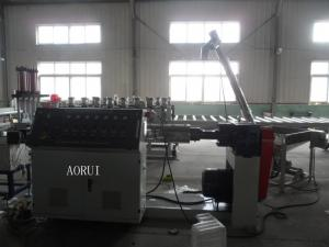 China PE Bottle Flakes Plastic Granules Machine PP Recycle Granules Extrusion Line on sale