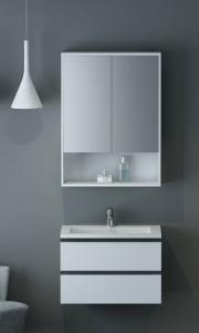 China High Grade MDF Wall Hung Bathroom Cabinet Vanity Units With Mirror Cabinet on sale