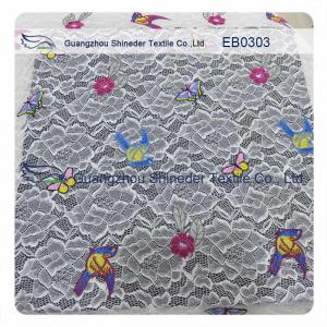 China Elastic Multi-color Embroidery Lace Fabric on sale