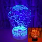 OEM souvenir Earth airplane model 3D LED night light USB colorful touch switch stereo three-dimensional desktop lamp