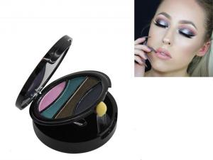 China Cosmetic High Pigment Glitter Eyeshadow 4 Colors For Girls , Pressed Powder on sale