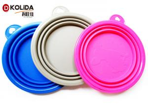 China Portable Travel Collapsible Puppy Feeding Bowl Rubber And Silicone Dog Bowl on sale
