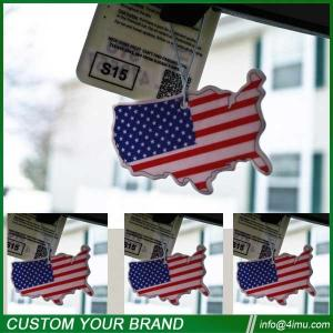 China Black ice 7*9cm USA flag nice cotton car paper air freshener on sale