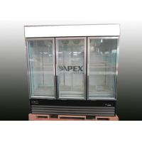 China Apex Free Standing Upright Display Freezer / 3 glass door freezer on sale