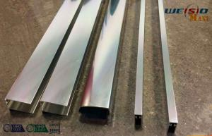 Quality Sliver Mirror Polished Aluminium Profile For Bacony Rail Polished Aluminum for sale