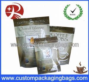 China Reciclable levántese los bolsos de empaquetado del café con la válvula de aire y la cremallera on sale