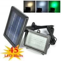 Color Changing Solar Flood Lights / Solar Powered Outdoor Motion Sensor LED Light
