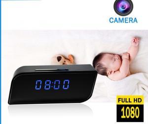 China Home security wireless spy cameras clock video baby monitor, 1080P 2 way speaking motion sensor mini hidden spy camera on sale