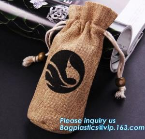 China Custom cheap wedding favor gift packaging drawstring burlap jute pouch bag,drawstring jute bag burlap shopping bag new s on sale
