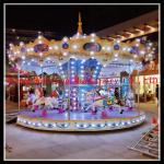 China Top China fun equipment Amusement park rides 18 seats rotary luxury carousel horses for sale wholesale