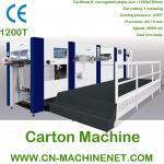 Machine de cartonnage de carton ondulé automatique de feuille de ZJ-1200T au lit plat découpé avec des matrices et à se plisser