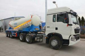 China Sinotruck 30 Tons Semi - Trailer For DR CONGO Project Latex Matrix Emulsion Explosive Transport on sale