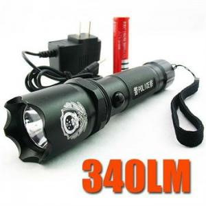 China High Performance Adjustable Powerful Rechargeable 340 Lumens Q3 CREE Led Torch Flashlight on sale