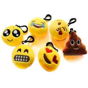 China Cute Lovely Emoji Plush Toy Keychain With Hook For Promotion Gifts on sale
