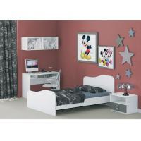 E1 MDF Melamine Childrens White Bedroom Furniture Sets Space Saving / Self Assembled