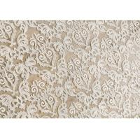 China Off White Embroidery Floral Corded Lace Fabric By The Yard For Bridal Dress on sale