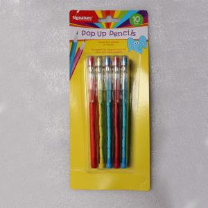 China Easter Plastic Multi Head Bullet Push Pencil Logo Printing With Cap on sale