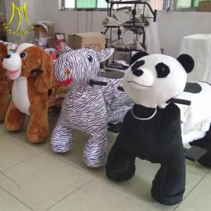 China Hansel  amusement park cheap plush coin operated electronic riding animal toys on sale