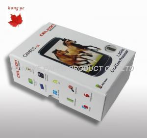 China Personalized Silk Screen Cardboard Packaging Boxes For Mobile Phone on sale